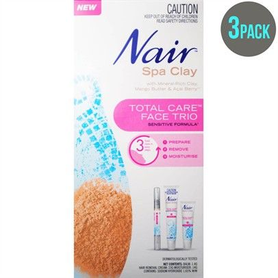 .Nair Pk3 Spa Clay Total Care Face TrioNzsale2001556-3PK
