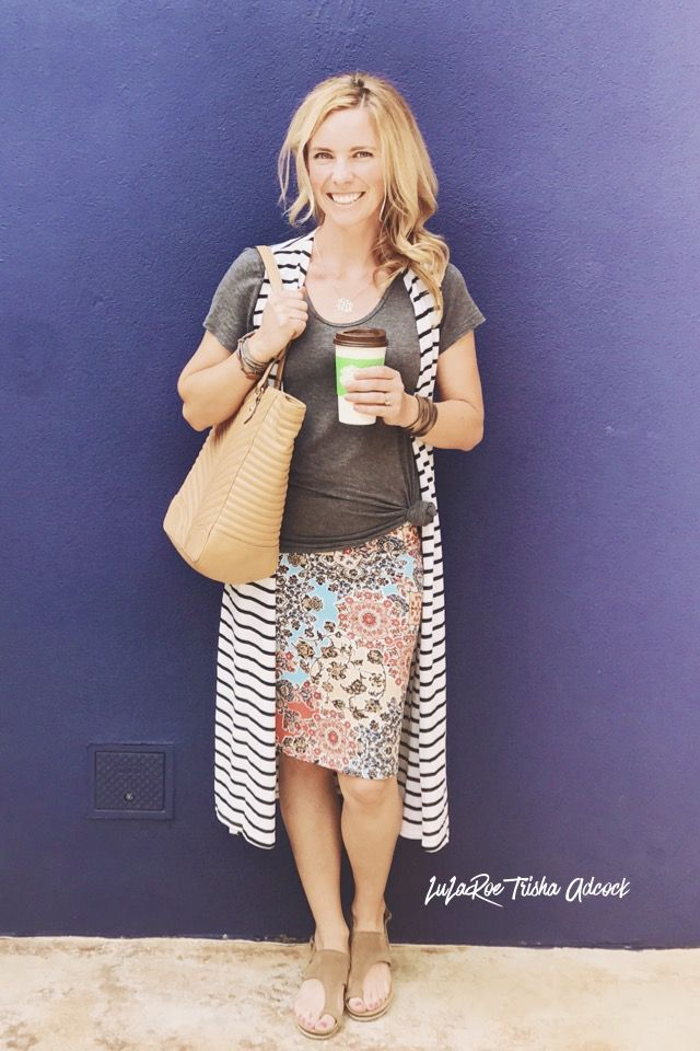 The lularoe Cassie skirt and the joy combo is on point for summer! Click on the photo to shop my group!!  LuLaRoe Trisha Adcock  https://m.facebook.com/groups/909632302491842