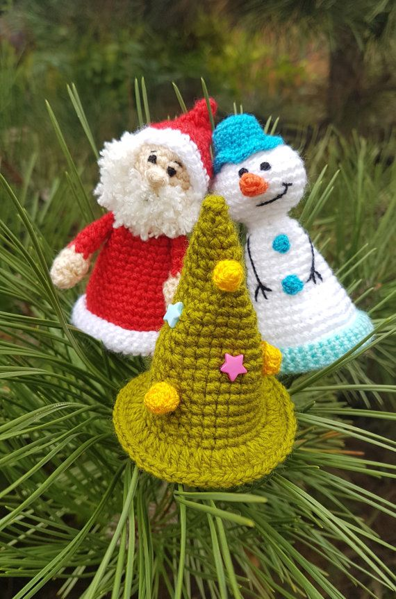 Christmas wine bottle topper Christmas decor  bottle accessories by FunnyAmiToys  Christmas wine bottle topper bottle accessories Crochet Santa Claus Snowman tree christmas ornament Christmas decor wine gift bottle hat