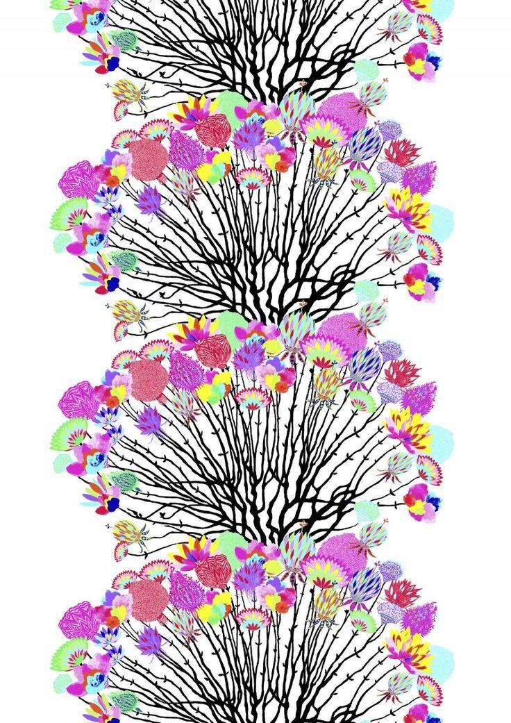 Vappukukka valmisverho - Painokankaat - Valmisverhot - Verhot - Vallilan verkkokauppa