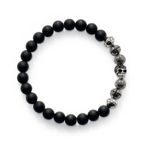 Thomas Sabo: complementing the necklace, different and fantastically-detailed beads create a real impact in this bracelet. Perfect for combining with other bracelets. $369.