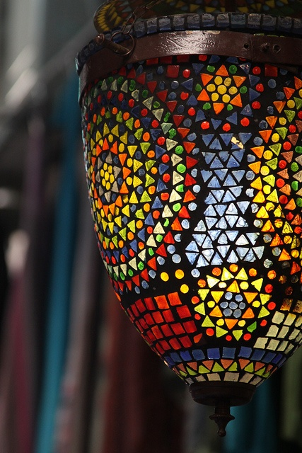 Awesome Stained Glass Mosaic Lamp (Old City, Jerusalem) By The Blond Dutch Girl