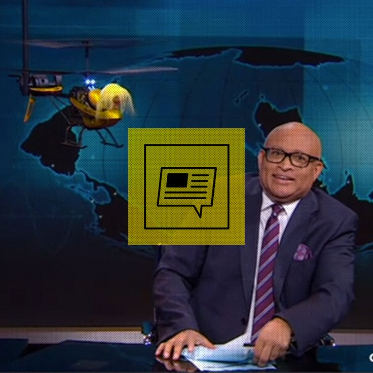 Donald Trump Visits Larry Wilmore In His Trump Helicopter