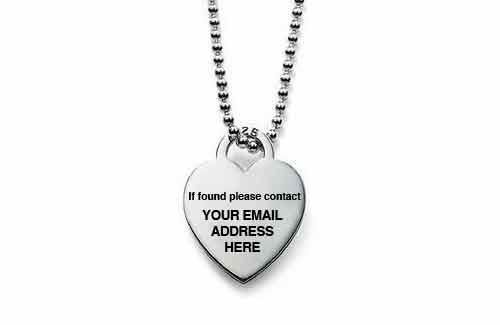 a necklace that you can get engraved, available practically everywhere