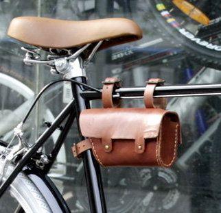 Vintage Fixie Fixed Gear Bike Leather Tube Bag