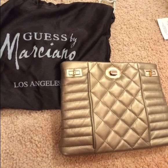 Metallic gold guess Marciano purse Only used once, great condition beautiful purse! Guess by Marciano Bags