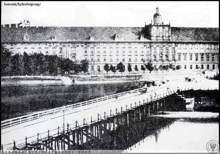 Drewniany most Długi.Rok 1860