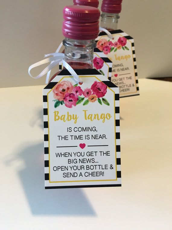 Baby Shower Favor Tags For Mini Wine Bottles   Wine Bottle Tags    Personalized Wedding Wine