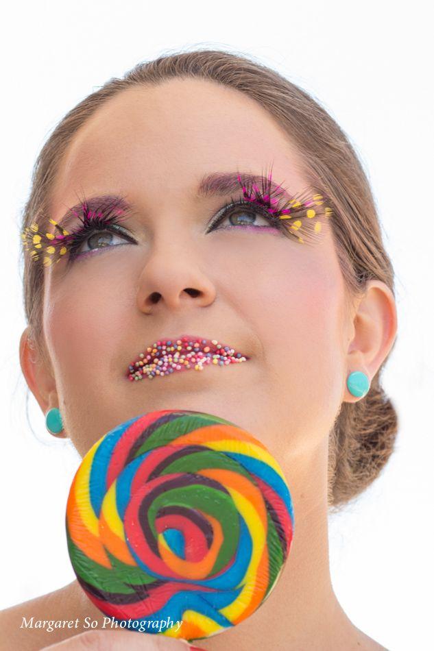 A love for candy!   Model: Tara Robertson, Hair & makeup artist: Nicole Ambrosino, Photographer & Stylist: Margaret So