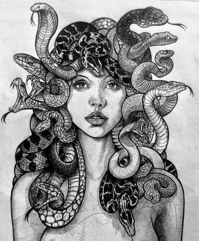 девушки медуза горгона рисунки ваш