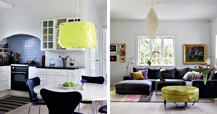 Collage pakabinamas šviestuvas. Dizainas Louise Cambell. via design attractor: A charming country residence