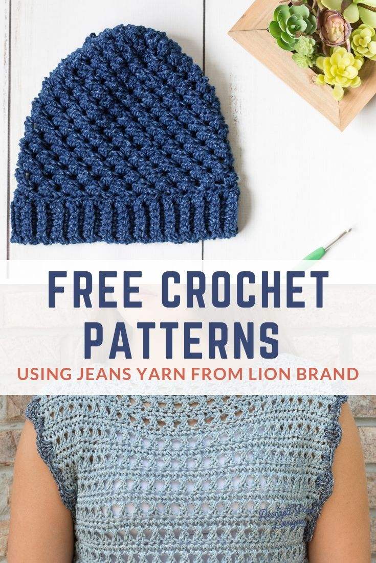 5 Crochet Patterns Using Jeans Yarn I Love 2 Create Pinterest