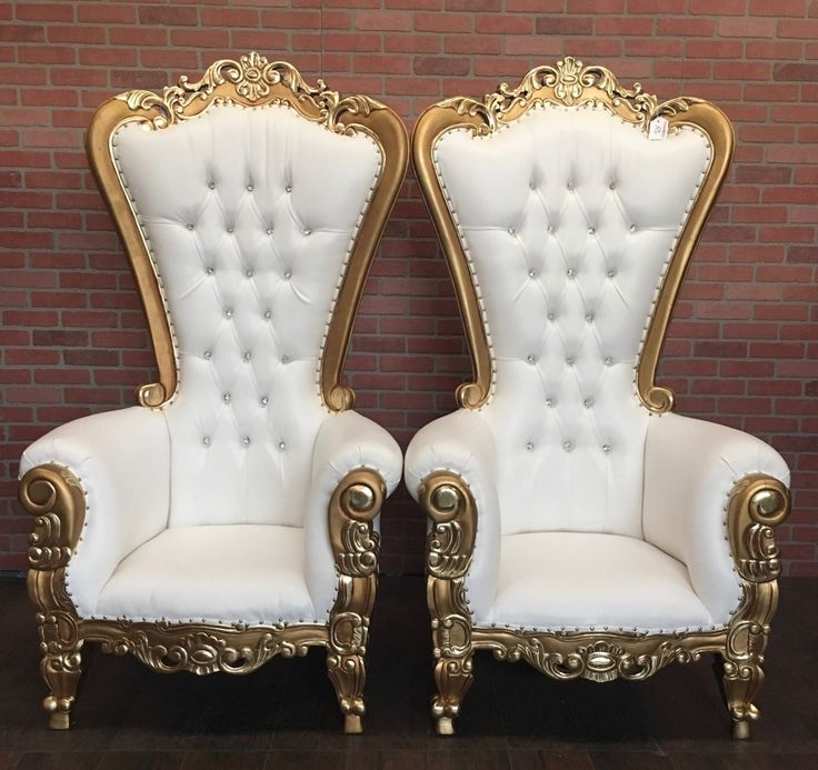 Absolom Roche Two Chair Set (10% Discount) - Gold/White ...