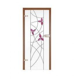 Drzwi szklane witrażowe GIPSY KINGS  FIOŁKI 2
