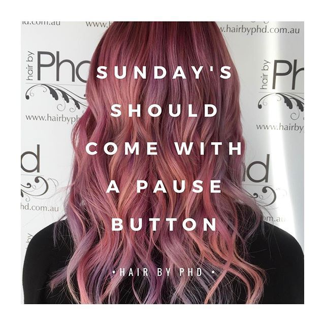• s u n d a y • .  .  .  #quotes #hair #instahair #hairstyles #haircolour #quoteoftheday #eat #messyhair #summer #fashion #instafashion #pinkhair #hairoftheday #texture #hairideas  #sunday #hairfashion #hairofinstagram #hairdresserlife #TGIF #weekend