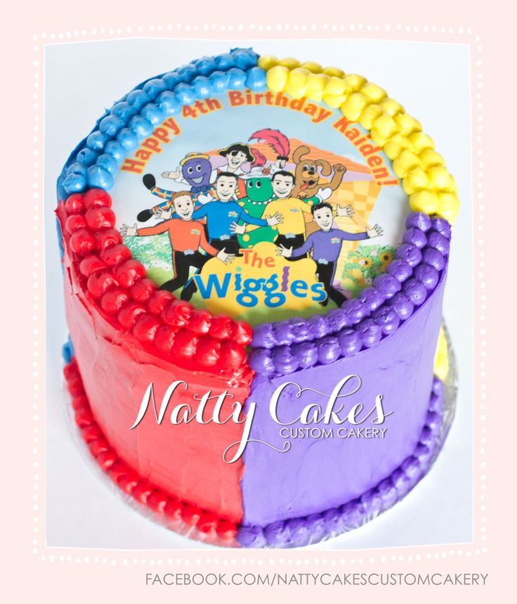 © Natty Cakes Custom Cakery   Wiggles Rainbow Cake