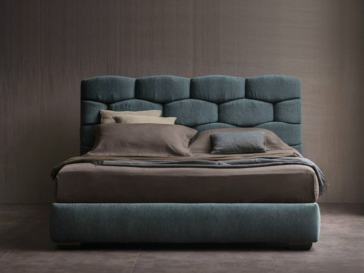 DOUBLE BED WITH UPHOLSTERED HEADBOARD MAJAL | DOUBLE BED | FLOU