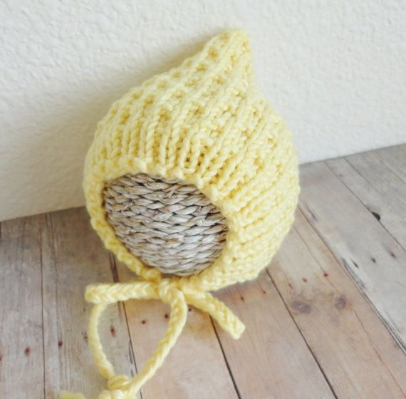 Huck s Baby Hat Knitting Pattern : Baby Hat KNITTING PATTERN Baby Bonnet Hat Pixie Baby ...