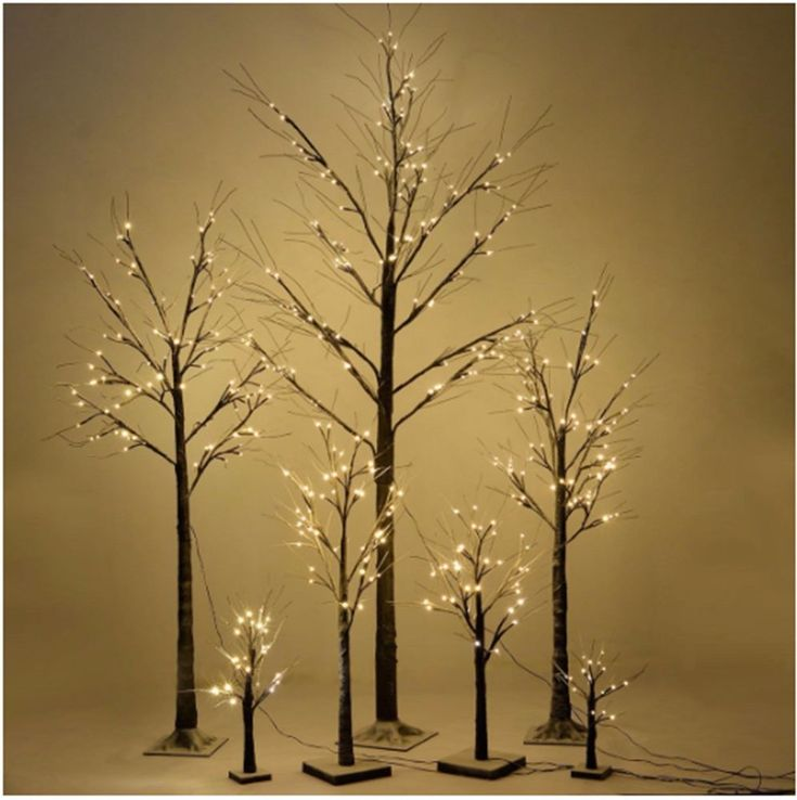 Christmas Birch Snow Tree Xmas LED Lights Realistic Decorative Winter Branches #Unbranded