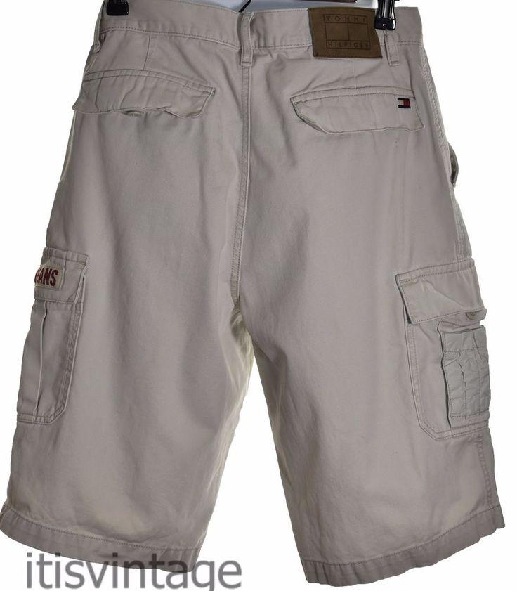 Vintage early 2000's Tommy Hilfiger Jeans Cotton Khaki Safari Cargo Shorts Sz 32 | Clothing, Shoes & Accessories, Men's Clothing, Shorts | eBay!