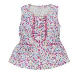Girls' top floral size: 7-14 years
