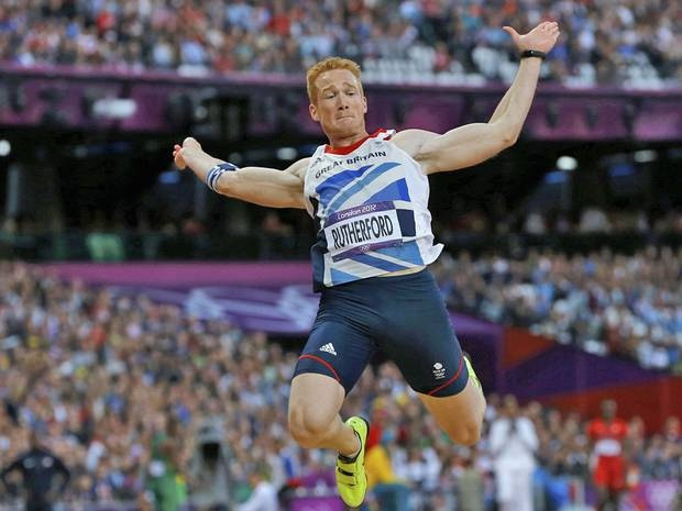 Unlikely gold winner Greg Rutherford launched himself to the podium with a gargantuan 8.31m jump for Team GB. Rutherford won Great Britains first gold medal in the long jump since 1964 when Lynn Davies won in Tokyo