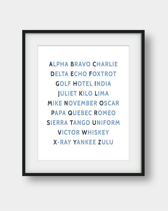 50% OFF NATO Phonetic Alphabet Print, Aviation Art, Aviation Decor, Pilot Gift, Airplane Wall Art, Airplane Decor, Phonetic Alphabet Poster