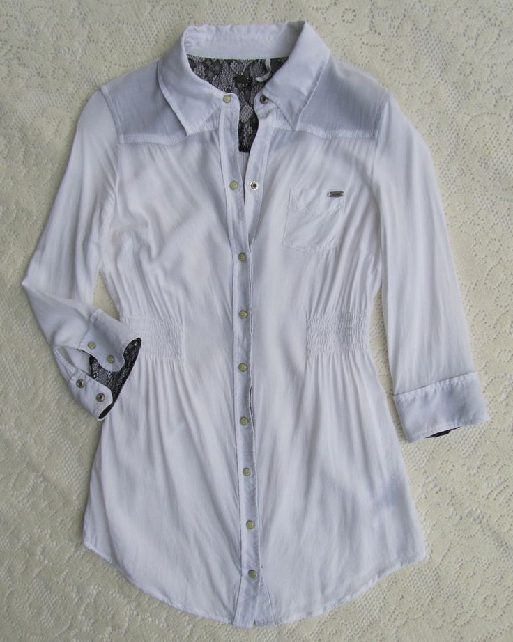 Guess White Lace Blouse 89