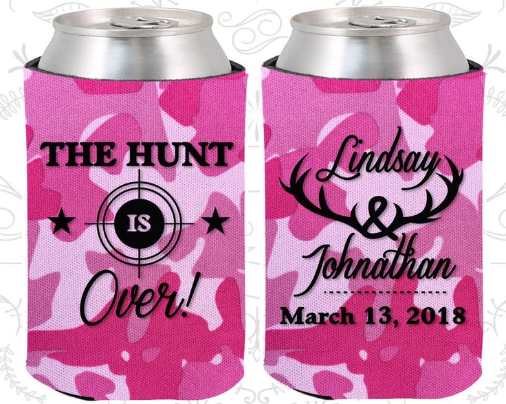 Pink Camo Wedding, Can Coolers, Pink Camo Wedding Favors, Pink Camo Wedding Gift, Pink Camo Koozies  (266)