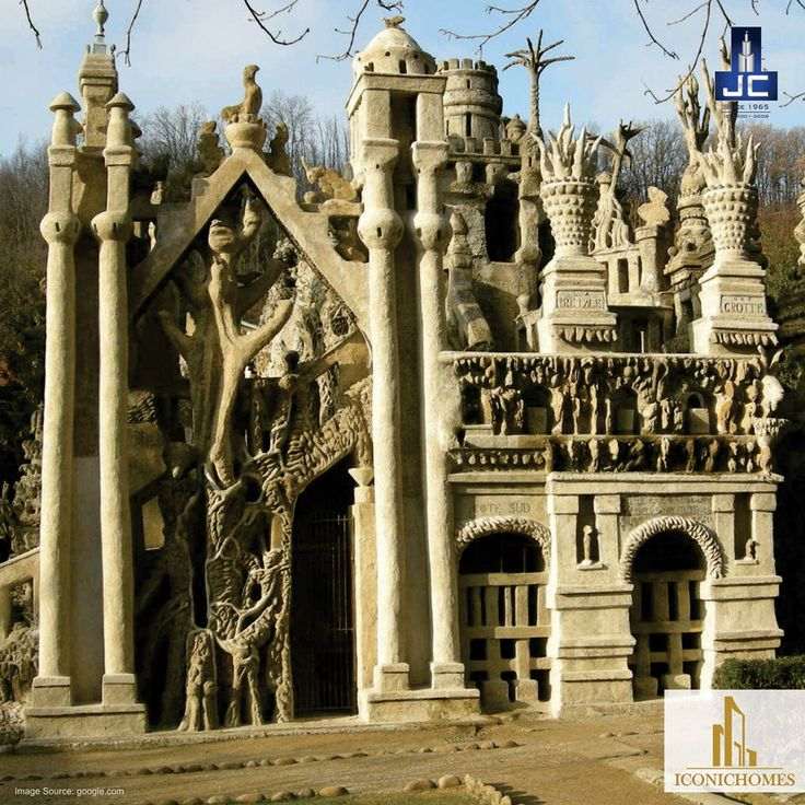 Ferdinand Cheval's was a French postman who spent 33 years building this Ideal Palace (Palais idéal). It stands as a testament that you can achieve anything with time, effort and passion Isnt it?