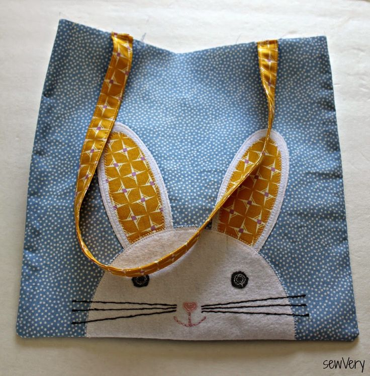 sewVery: Bunny Face Bag Tutorial