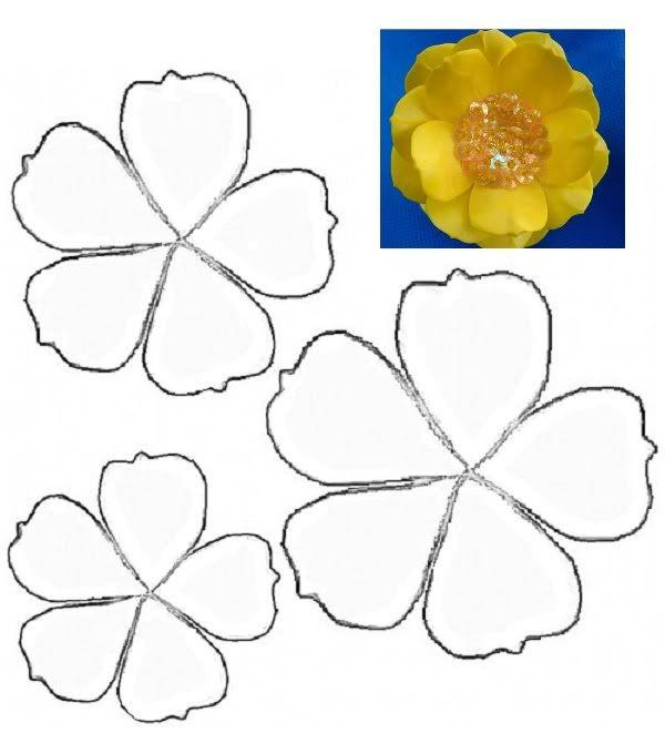 Patrones de flores para hacer en foami - Imagui