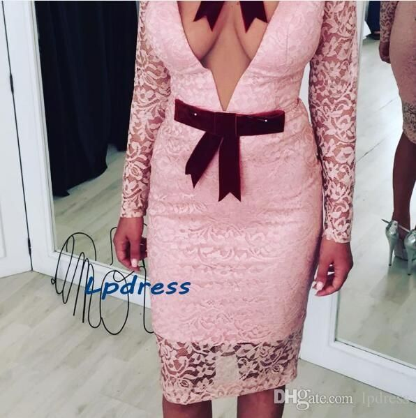 Sexy Lace Cocktail Dresses Deep V Neck Long Sleeve Short Summer Lace Party Dresses High Quality Short Party Dresses Cheap Cocktail Dresses Sale Cocktail Dresses Size 18 From Lpdress, $86.27| Dhgate.Com
