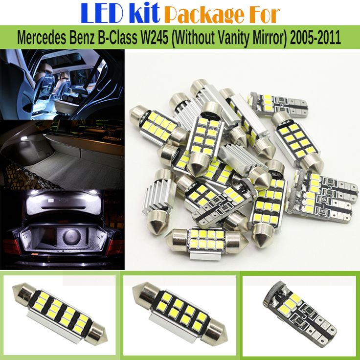 ==> [Free Shipping] Buy Best Car Canbus Interior LED Kit Package 2835 Chip LED Bulb White For Mercedes Benz B-Class W245 (Without Vanity Mirror) 2005-2011 Online with LOWEST Price   32773529473