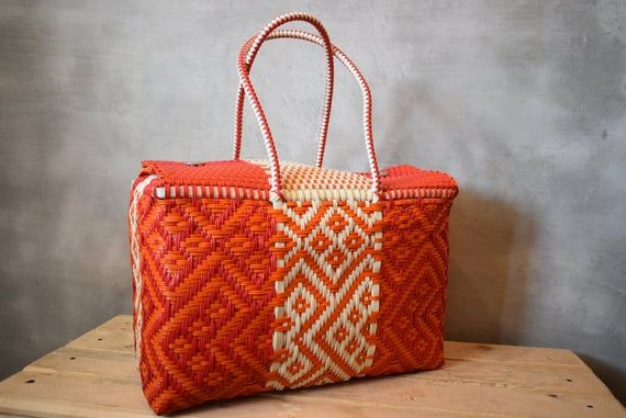 hand-woven Check sending cost on description Handcrafted bags from Mexico Handwoven bags made with plastic Please Wholesale too!!