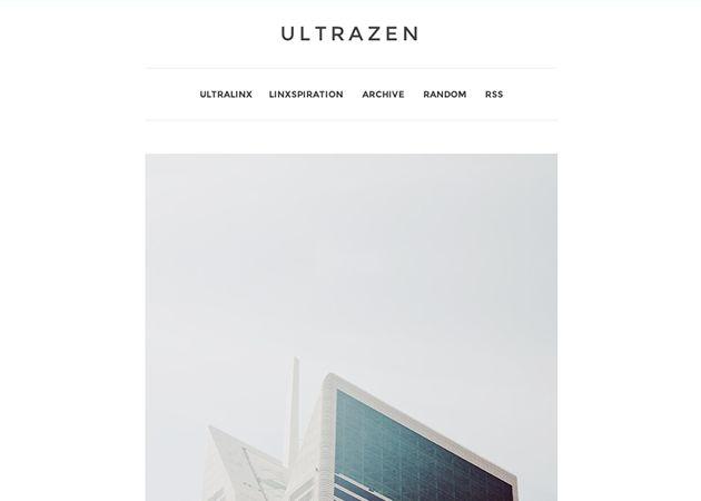 UltraZen | Tumblr | Web design | Blog