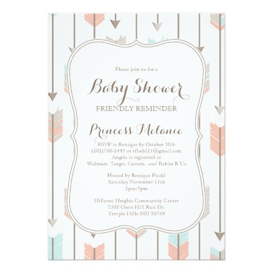 10 best baby shower reminder images on Pinterest