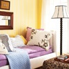 For small bedroom: Use vertical stripes to draw the eye toward the ceiling and make the room seem instantly larger...