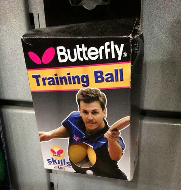 Unfortunate ball positioning here. All inclusive product...