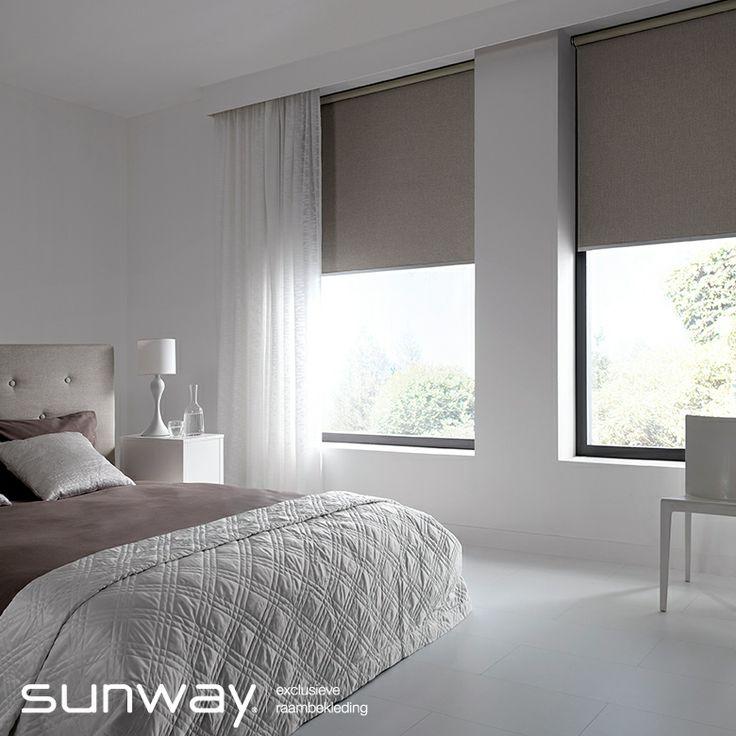 Verduisteringsstoffen van SUNWAY weren licht en warmte. Deze stoffen zijn zeer geschikt voor (kinder) slaapkamers en zorgen voor optimale privacy.