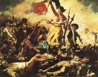 El famoso cuadro de la Libertad guiando al pueblo, aunque fue pintado para la Revolución de 1843, se ha convertido en el símbolo de la Revolución francesa