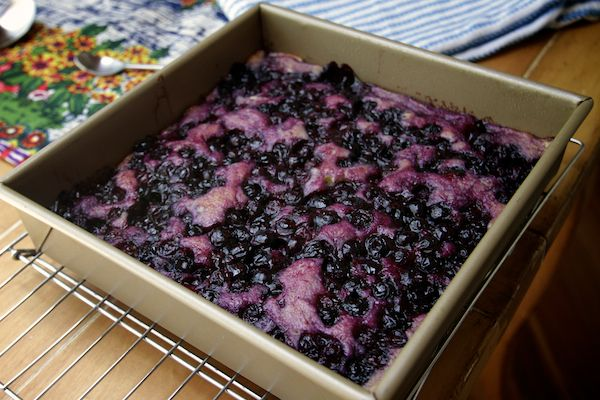 Blueberry Pudding Cake: How pretty is that cake?
