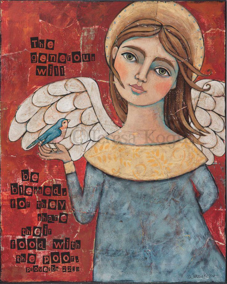 Generosity 8x10 print by my friend, Teresa Kogut