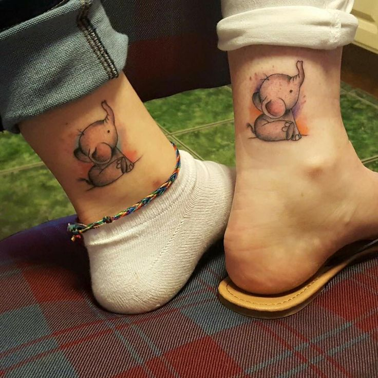 Little Elephant Tattoo On Ankle