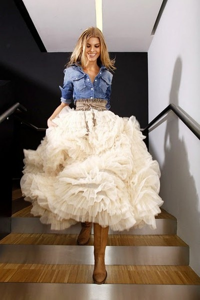 Make a huge statement with a huge skirt! Frills for days