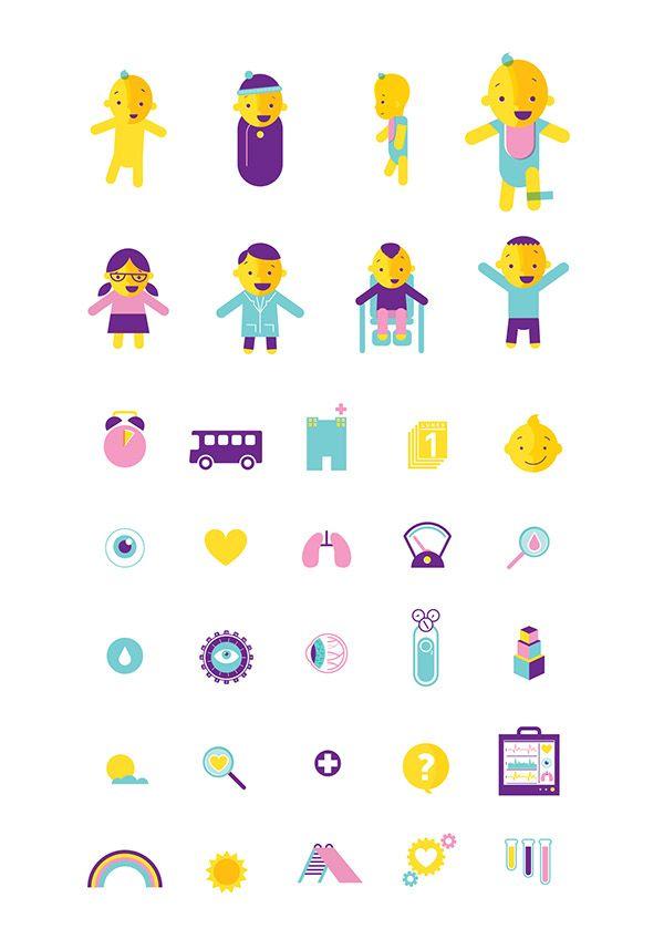 Ilustración vectorial para los derechos del niño prematuro - UNICEF.