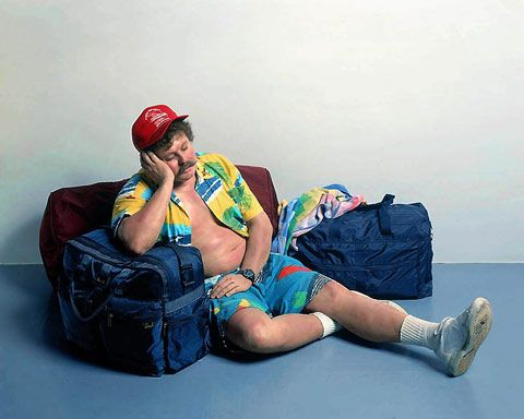 Hyper Realism seems to be a growing area of art these days, but no work compares to the father of Hyper Realism Sculpture, Duane Hanson. Hanson's work went beyond replicating the human form by creating vulnerable scenes of sloth and gluttony, showcasing mundane citizens chasing the American Dream.