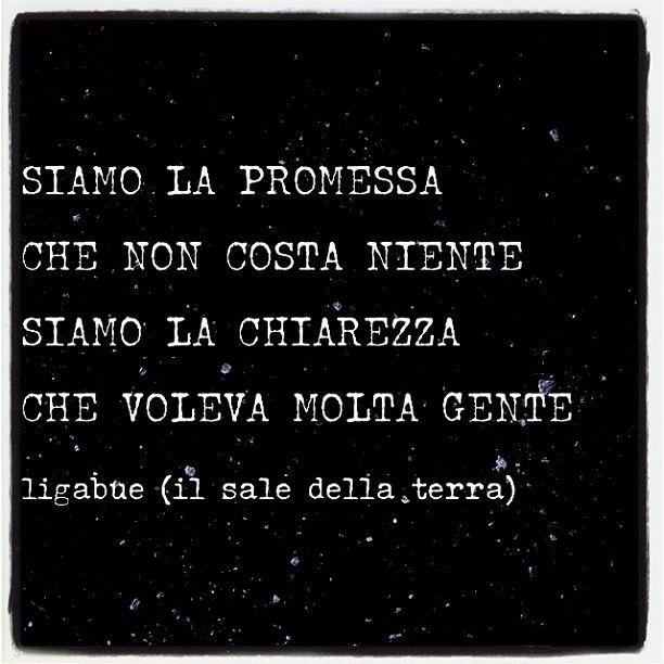 #ilsaledellaterra Somos la promesa que no cuesta nada, Somos la claridad que muchas personas deseaban-