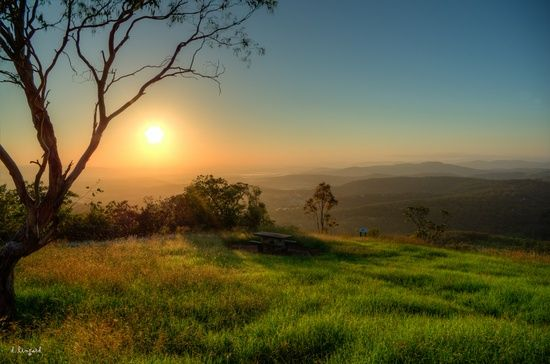 Sunrise over the Lockyer Valley from Toowoomba, Queensland, Australia