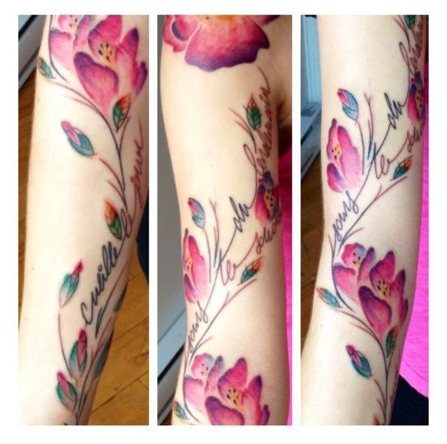 1000 images about tattoo ideas on pinterest for dogs for Floral watercolor tattoo